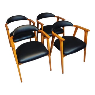 1960s Mid-Century Curated Maple Dining Chairs - Set of 4 For Sale