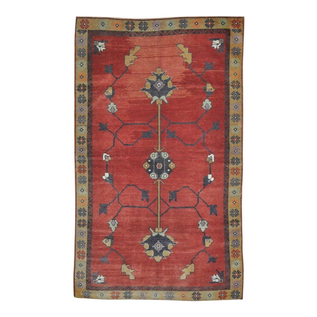 Vintage Hand Knotted Tribal Rug - 4′ × 7′1″ For Sale