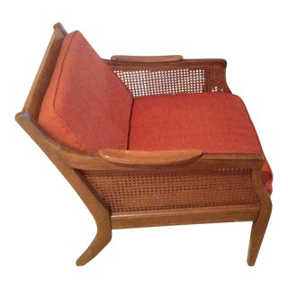 Mid-Century Danish Cane Chair For Sale