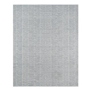 "Erin Gates by Momeni Easton Congress Grey Indoor Outdoor Hand Woven Area Rug - 5' X 7'6"" For Sale"
