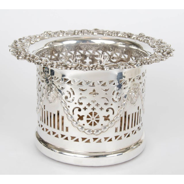 Silver Plate High Wine Coaster For Sale - Image 4 of 6