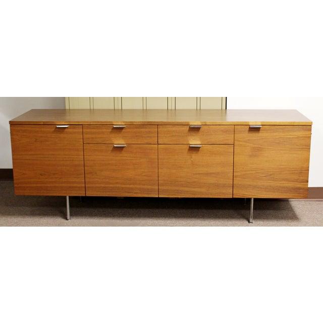 Walnut 1950s Mid Century Modern George Nelson Herman Miller Walnut Desk & Credenza - 2 Pieces For Sale - Image 7 of 13