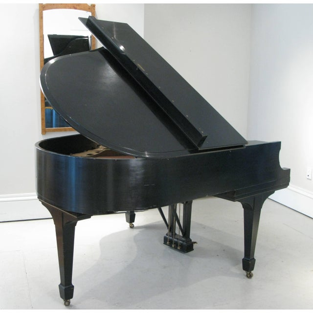 Ebony Steinway & Sons 1912 Model M Ebony Piano For Sale - Image 7 of 12
