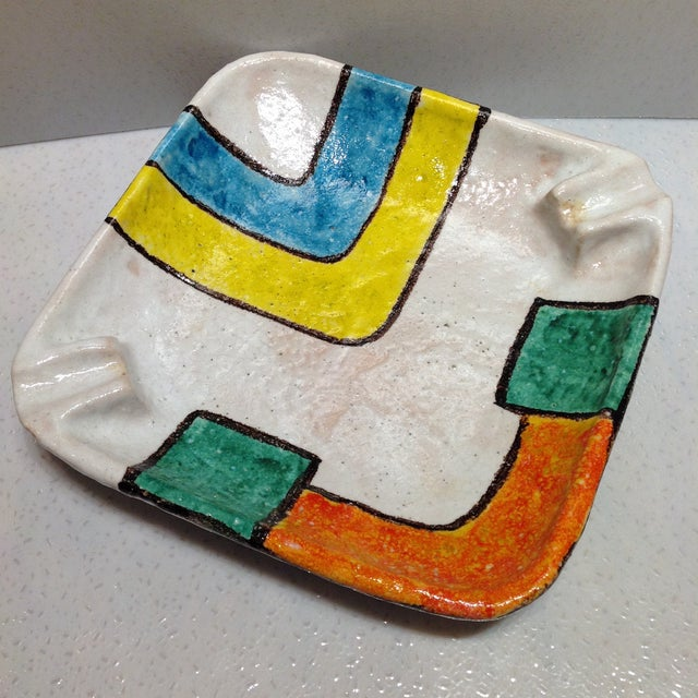 Italian Bitossi Raymor Pottery Cigar Ashtray For Sale - Image 3 of 11