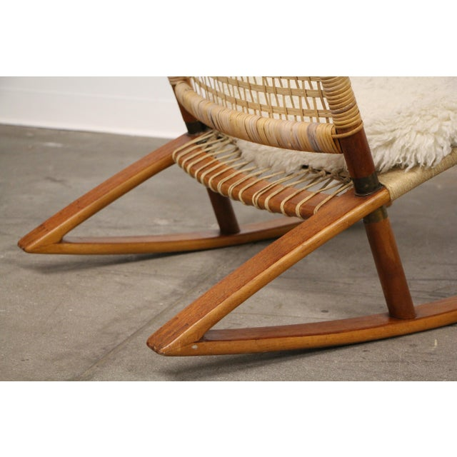 Vatne Møbler 1950s Mid-Century Modern Frederik Kayser Rocking Chairs - a Pair For Sale - Image 4 of 13