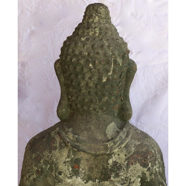 Garden Terra Cotta Buddha Statue, Indoor or Outdoor, Original Patina For Sale In West Palm - Image 6 of 12