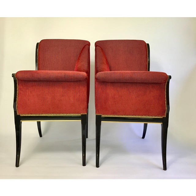 Fabric Karges Parler Deux Chairs - A Pair For Sale - Image 7 of 12