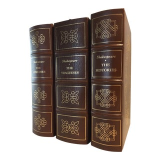 1980s Vintage Shakespeare Easton Press Decorative Leather Books - Set of 3 For Sale