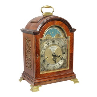 Dutch Mahogany and Brass Mounted Mantle Clock For Sale