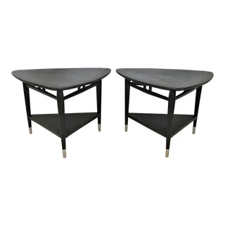 "1966 MCM Lane ""Acclaim"" Series Triangular End Tables - a Pair For Sale"