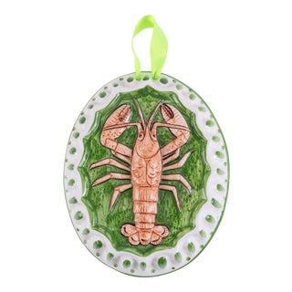 Italian Lobster Ceramic Mold/Decorative Wall Hanging For Sale