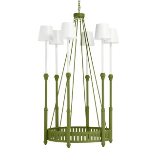 Camilla Chandelier, Timson Green White Shades For Sale