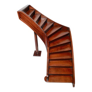 Early 20th Century Decorative Arts Rectilinear Single Turn Model Staircase For Sale