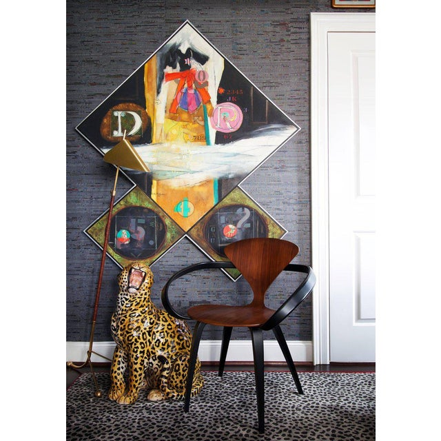 An oil on canvas and collage triptych painting by modern artist Walter Feldman is titled 'Sequence', 1975. The work...