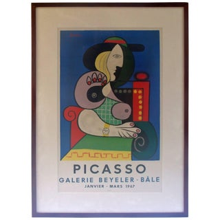 1967 Mid-Century Modern Picasso Exhibition Poster For Sale