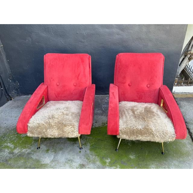 Marco Zanuso Pair of Exuberant Maurice Mourra Mid-Century Chairs For Sale - Image 4 of 8