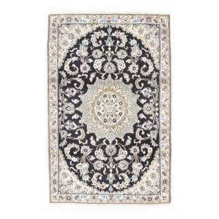 Fine Persian Nain Silk & Wool Rug - 3' X 5'