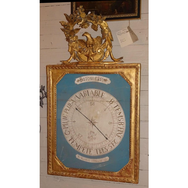 18th Century French Gilt Wood Barometer For Sale - Image 10 of 10