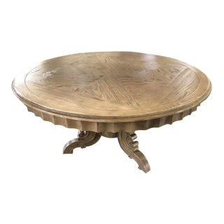 French Weathered Round Dining Table For Sale
