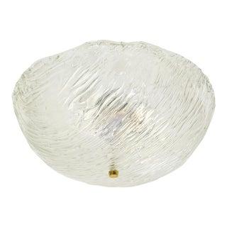 Large Venini Glass Dome Flush Mount, 1960s
