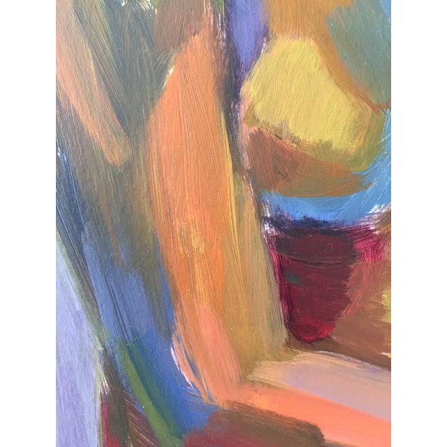 Original Abstract Painting of Seated Nude - Image 7 of 9