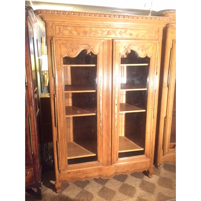 Early 19th Century French Carved Bibliotech Go Display, Glass Door