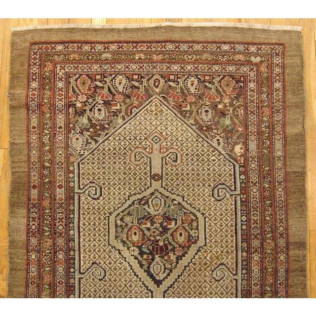 "Art Deco 1910s Antique Persian Hamadan Camel Hair Oriental Rug-3'11'x5'2"" For Sale - Image 3 of 5"