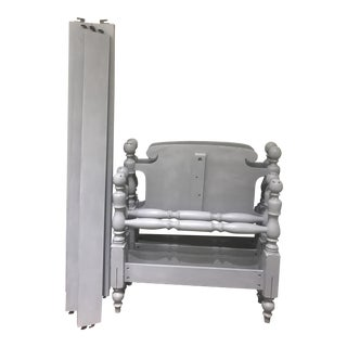 Vintage Grey Twin Beds - a Pair