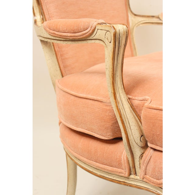 1980s Louis XV Style Painted Occasional Chairs - A Pair For Sale - Image 9 of 13