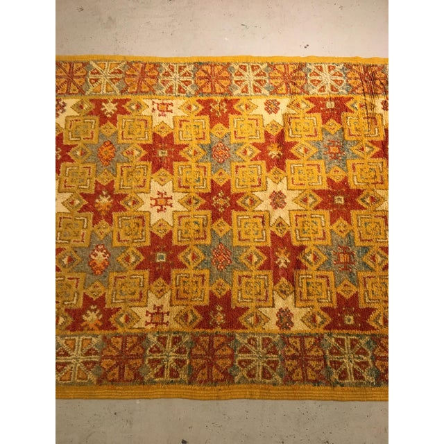 Islamic Gold Multi Moroccan rug For Sale - Image 3 of 11