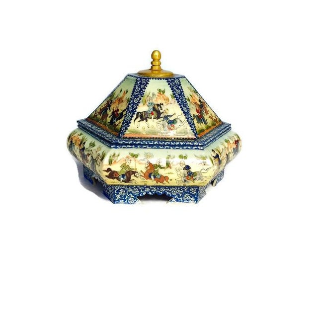 Vintage Persian Ornate Bone Trinket Box - Image 4 of 6