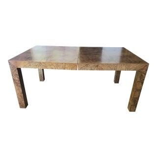 1960s Modern Milo Baughman for Lane Burlwood Parsons Dining Table For Sale