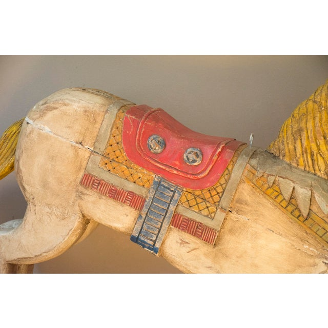 Antique Wooden Polychrome Carousel Horse - Image 7 of 8