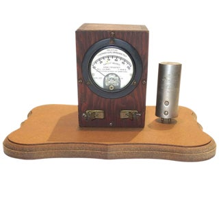 Weston Thermo Galvanometer Sculpture Circa 1922 With Electric Thermocouple. Mounted On Wood. For Sale