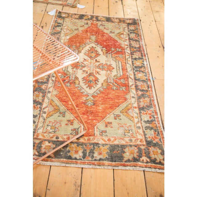"""Old New House Vintage Distressed Oushak Rug Runner - 2'7"""" X 5' For Sale - Image 4 of 10"""