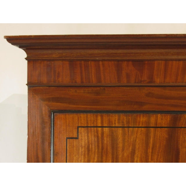 19th-C. Regency Inlaid Linen Press For Sale In Boston - Image 6 of 9