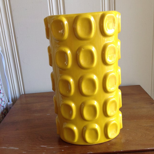Modern Yellow Ceramic Vase - Image 3 of 10