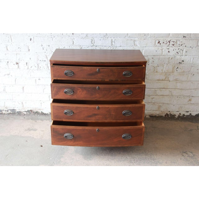 Baker Furniture Company Baker Furniture Four-Drawer Mahogany Bachelor Chest For Sale - Image 4 of 11