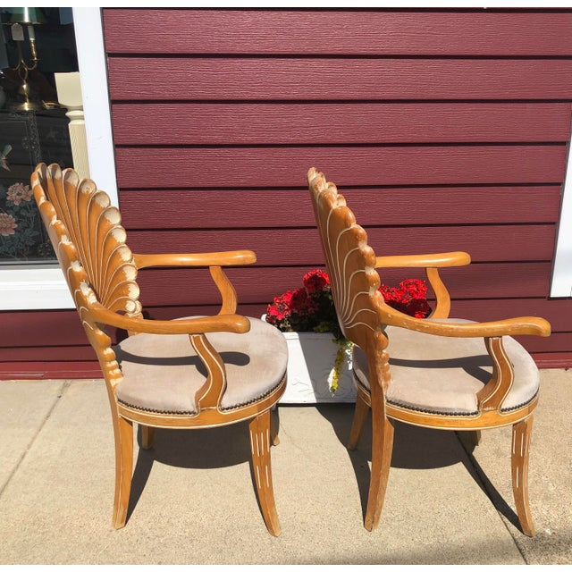 Italian Seashell Chairs- a Pair For Sale In Chicago - Image 6 of 9