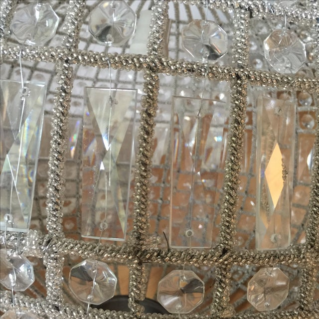 Transparent Modern French Pendant Crystal Sphere For Sale - Image 8 of 10