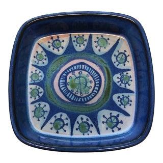 Vintage Royal Copenhagen Marianne Johnson Fajance Tenera Hand Painted Dish, Signed For Sale