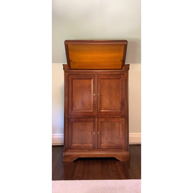French 1990s Grange French Entertainment Armoire / Tv Stand For Sale - Image 3 of 9