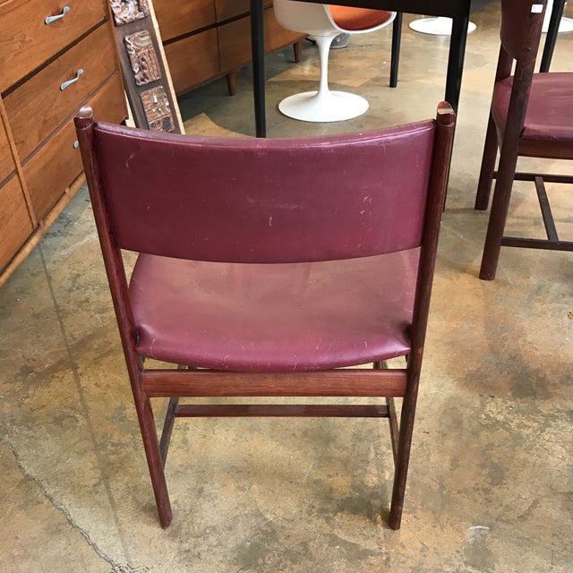 Solid Rosewood Danish Dining Chairs - Set of 4 - Image 5 of 7