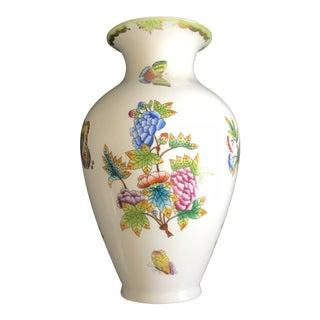 1950's Herend Queen Victoria Hand Painted Vase