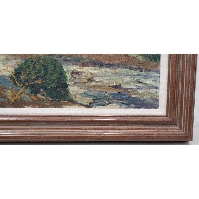 "Fern Coppedge (American, 1883-1951) ""Winter - New Hope"" Original Oil Painting c.1920 Original oil painting by noted..."