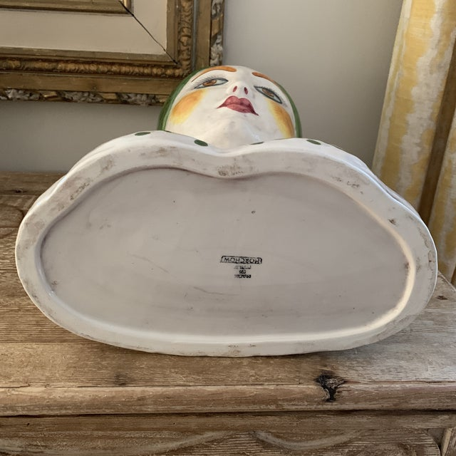 White 1960s Vintage Italian Ceramic Head Vase For Sale - Image 8 of 10