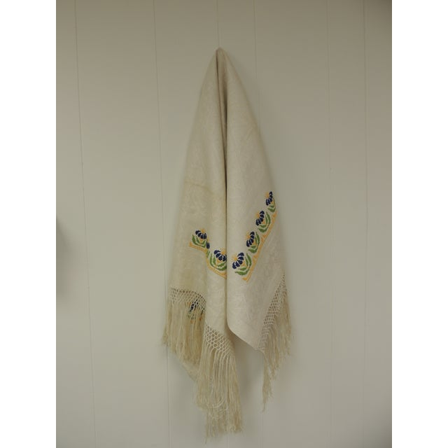 Antique Woven Floral Turkish Towels With Hand-Knotted Fringes For Sale In Miami - Image 6 of 6