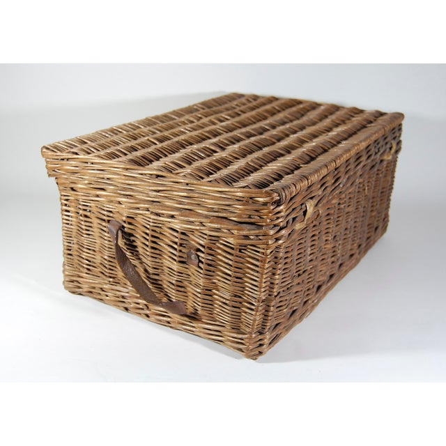 Brown Vintage English ' Sirram ' Wicker Kettle & Tea Service for 4 Picnic Set - 45 Pieces For Sale - Image 8 of 11