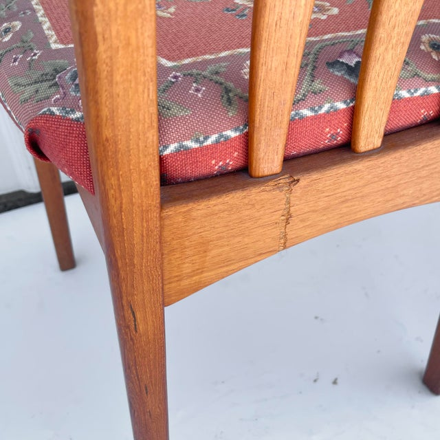 Vintage Modern Teak Arm Chairs- a Pair For Sale - Image 11 of 13