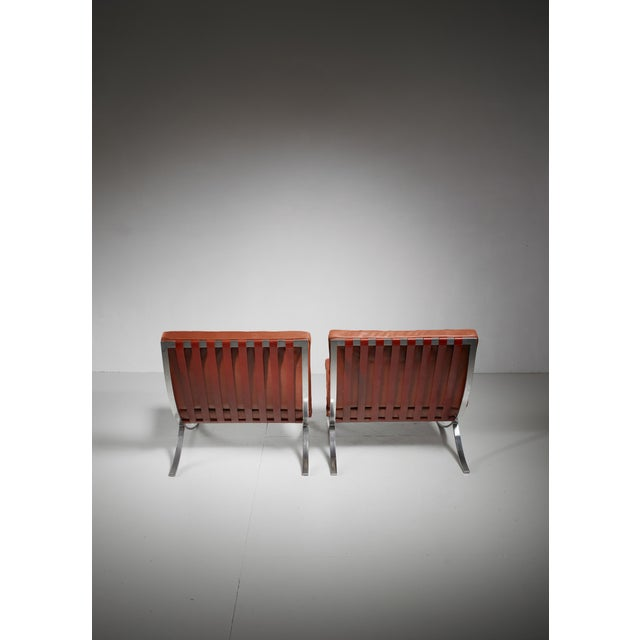 Pair original Barcelona chairs, 1st Knoll edition, 1950s For Sale - Image 6 of 8
